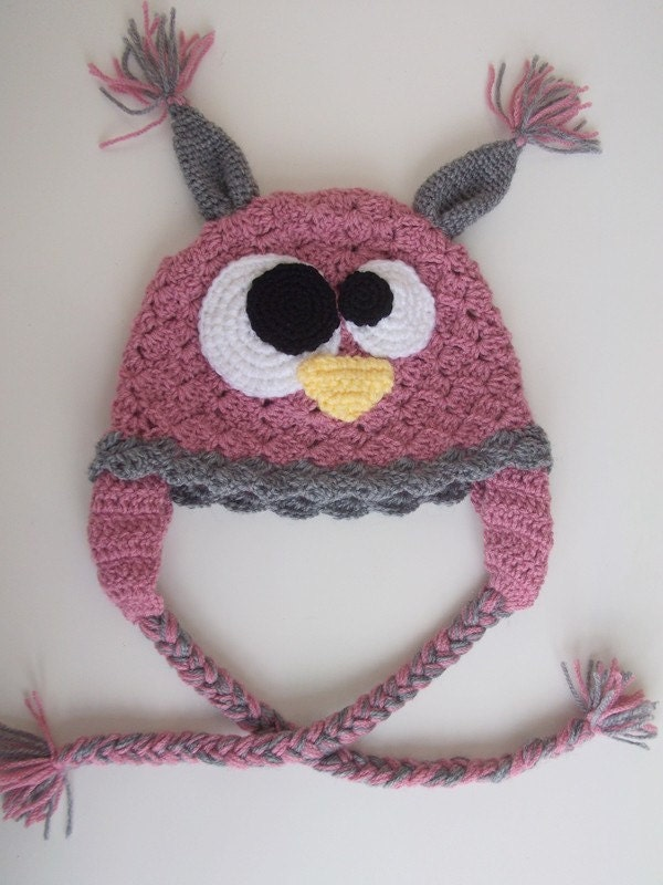 Owl Hat -Crochet Baby  Hat  - for Baby or Toddler