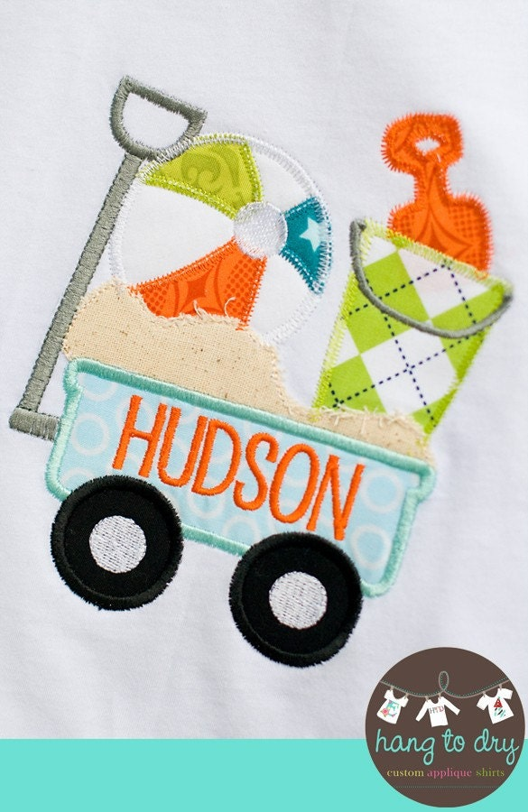 Beach Wagon Applique Shirt, EXCLUSIVE Design by Hang to Dry, Custom, Personalized, Monogrammed