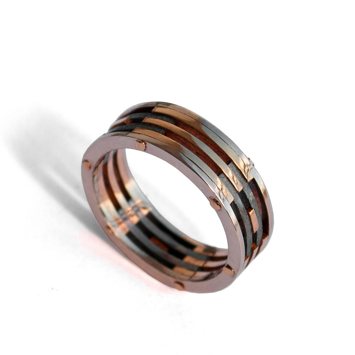 Image Result For Black And White Gold Mens Wedding Bands
