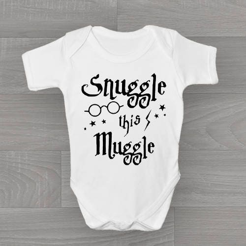 Snuggle This Muggle! Harry Potter Funny Cute Non Personalised Baby Grow Bodysuit Gift.