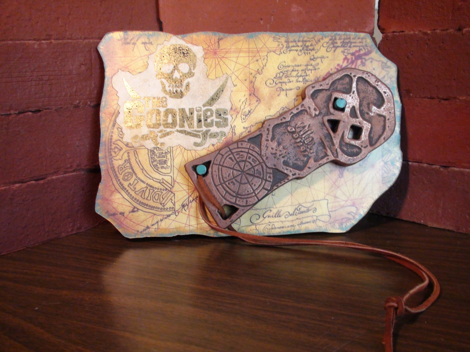 Movie Prop- Goonies Wall Display- Copper Bones- Replica- One Eyed Willy - SilveradoStudios