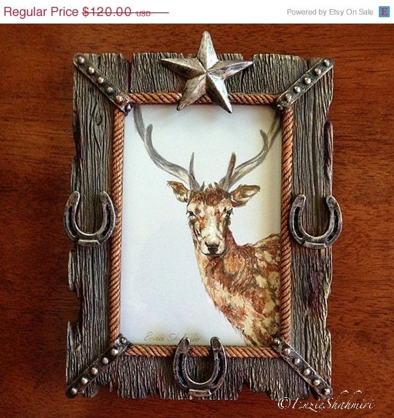 On Sale Decorative Wall Art - Young Buck Original Oil Painting - EnzieShahmiriDesigns