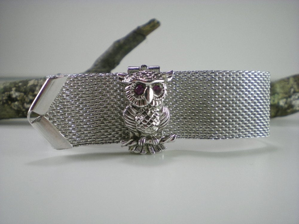 Vintage Designer sarah Coventry Silver Tone Mesh And by paleorama from etsy.com
