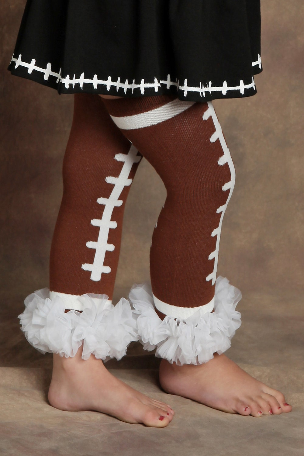 Girly Football Pettilegs Ruffled Legwarmers - U Pick Ruffle Color