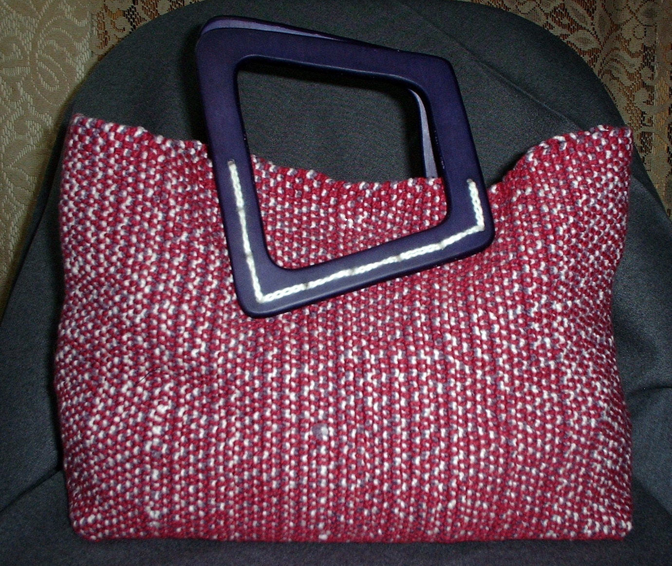 Purple Handwoven Cotton Purse