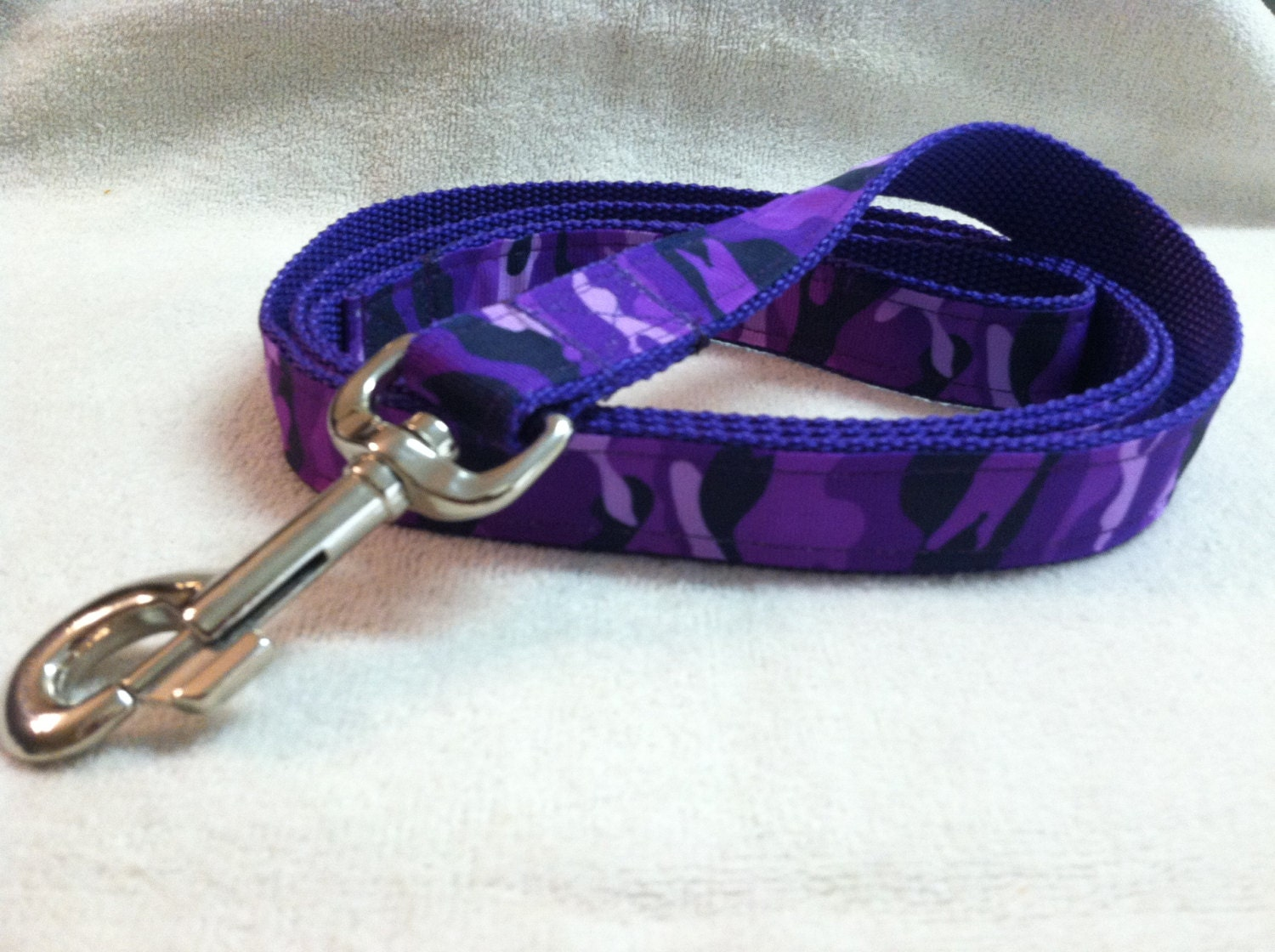 Purple Camouflage Custom Dog Leash - DoggieStylz