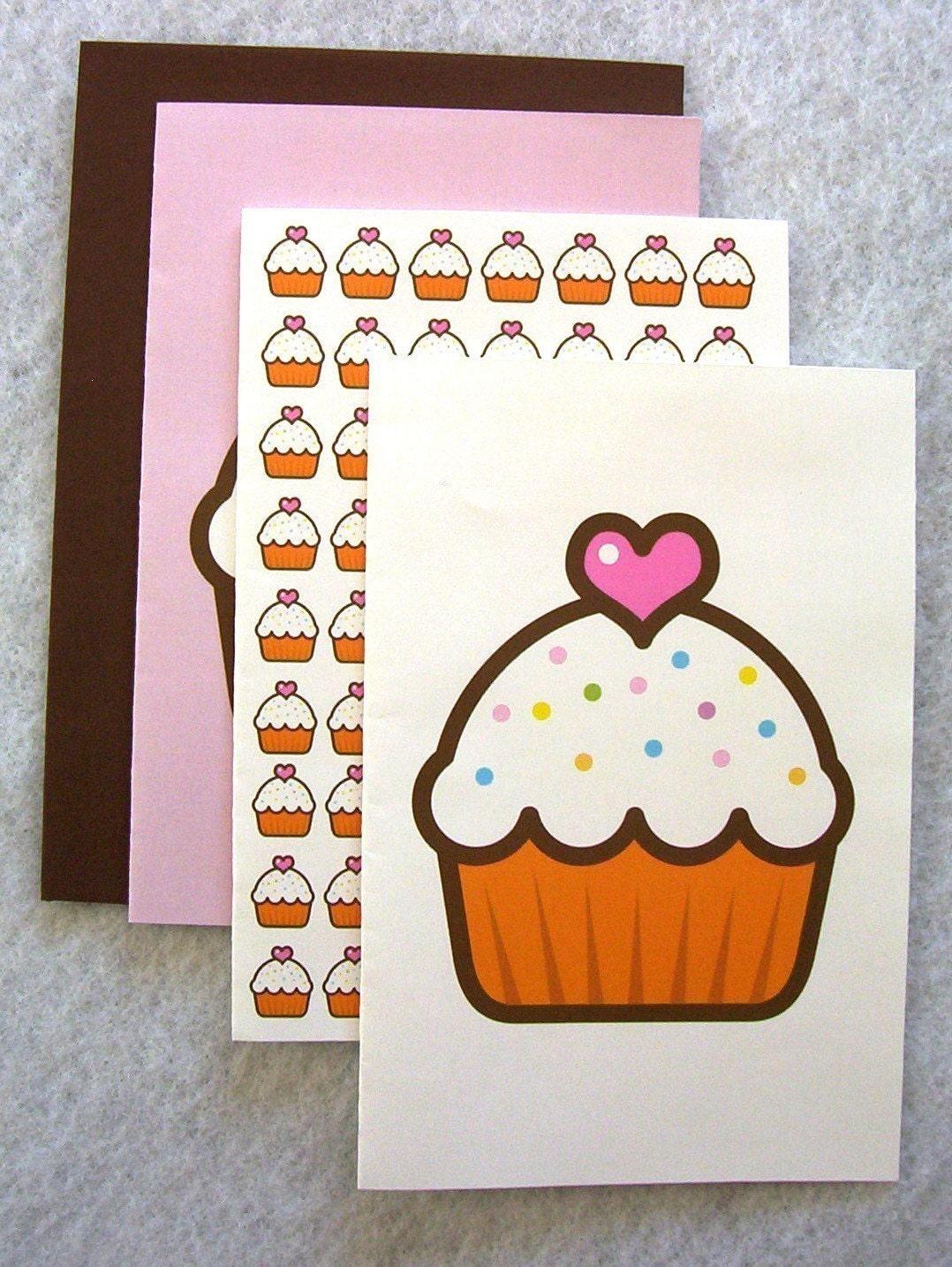cupcake card MEGA set SALE