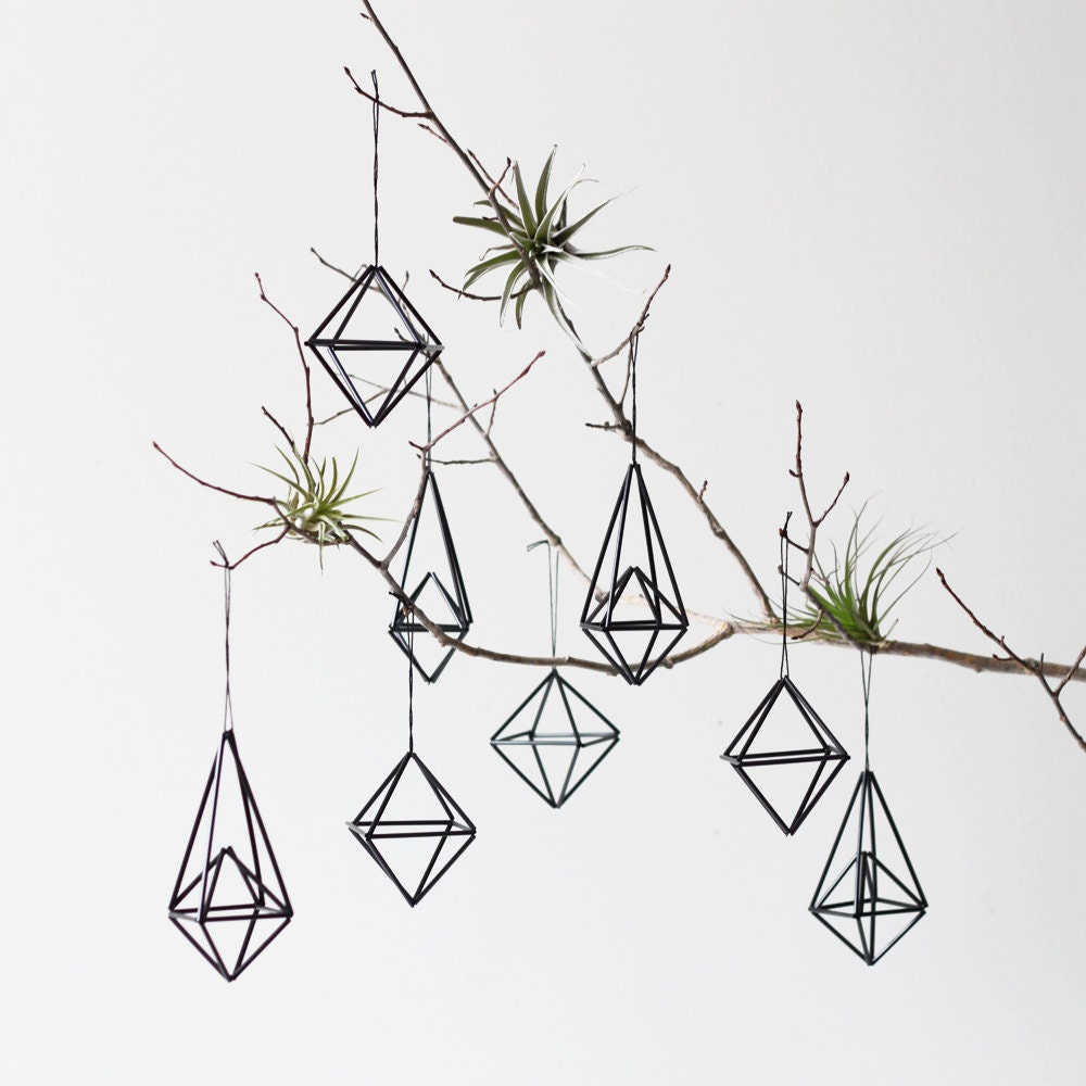 Himmeli Ornament Set di 8 / Moderno Hanging Mobile / Geometrico Scultura / Minimalist Home Decor