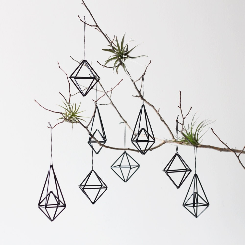 Himmeli Ornament set of 8  / Modern Hanging Mobile / Geometric Sculpture