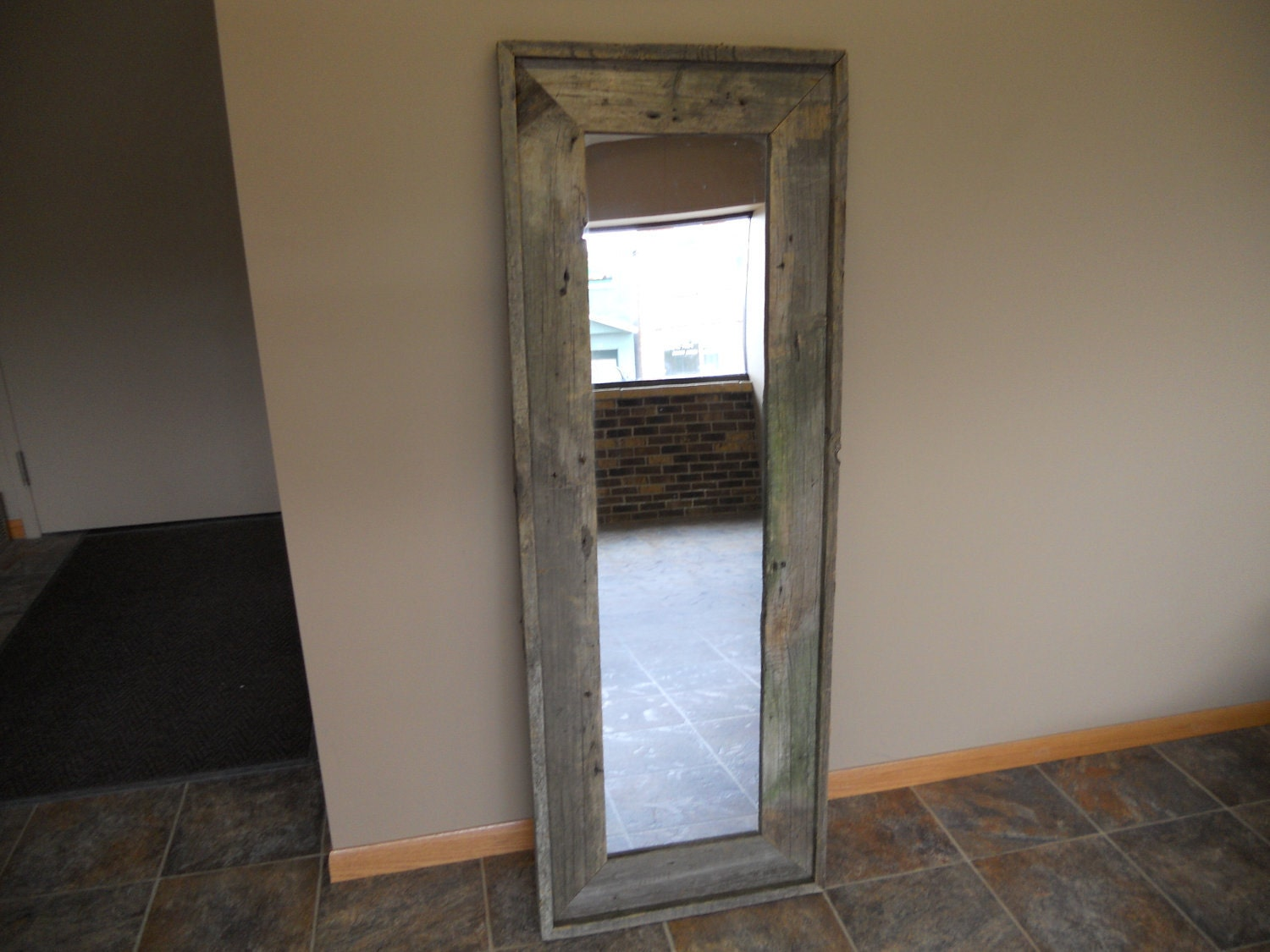 Full Length Standing Barn Wood Mirror By Lstalz On Etsy