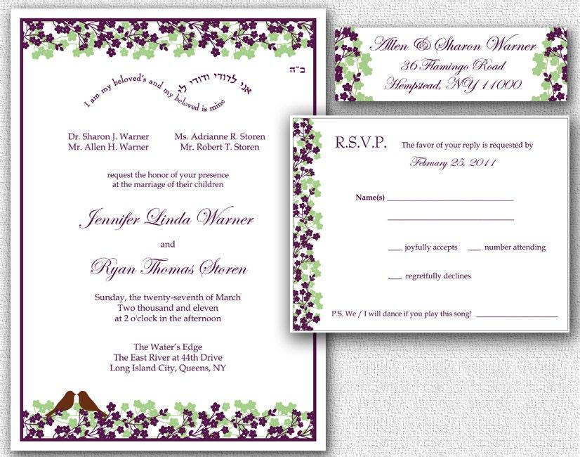 Wedding invitation rsvp card return address by for Wedding mailing labels templates