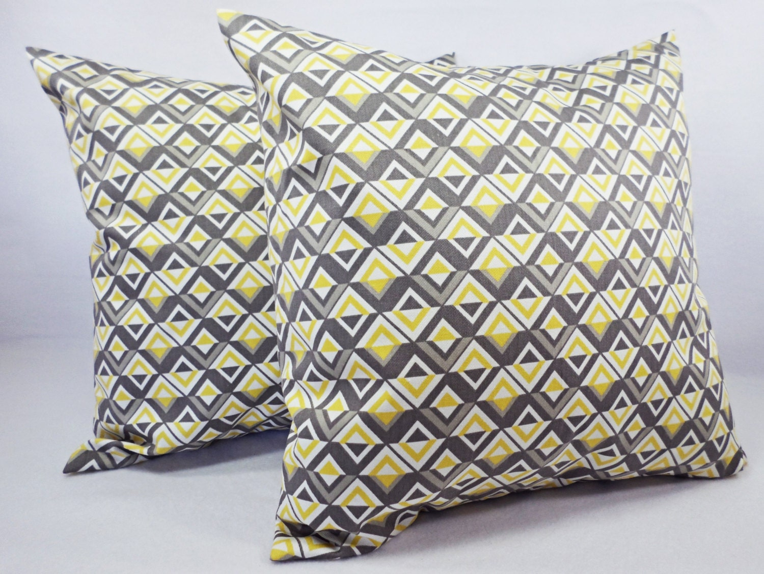 Throw Pillow Covers 20 X 20 : Items similar to 20 x 20 Throw Pillow Covers - Two Yellow and Grey Throw Pillows - 20 x 20 inch ...