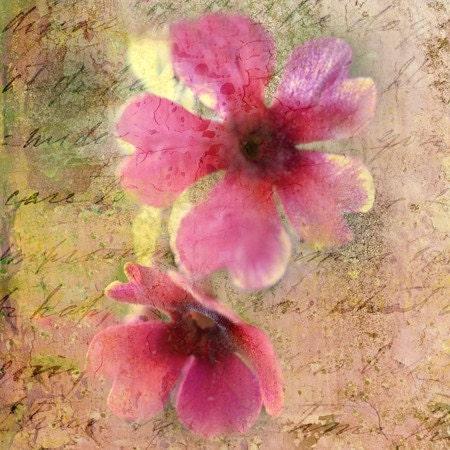 Восточные цветения (4x4 дюйм холст мини)