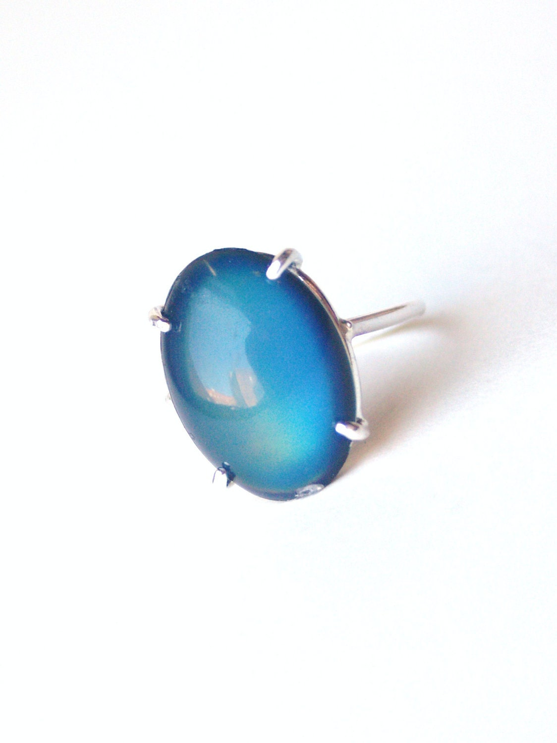 fancy sterling silver mood ring color changing with by