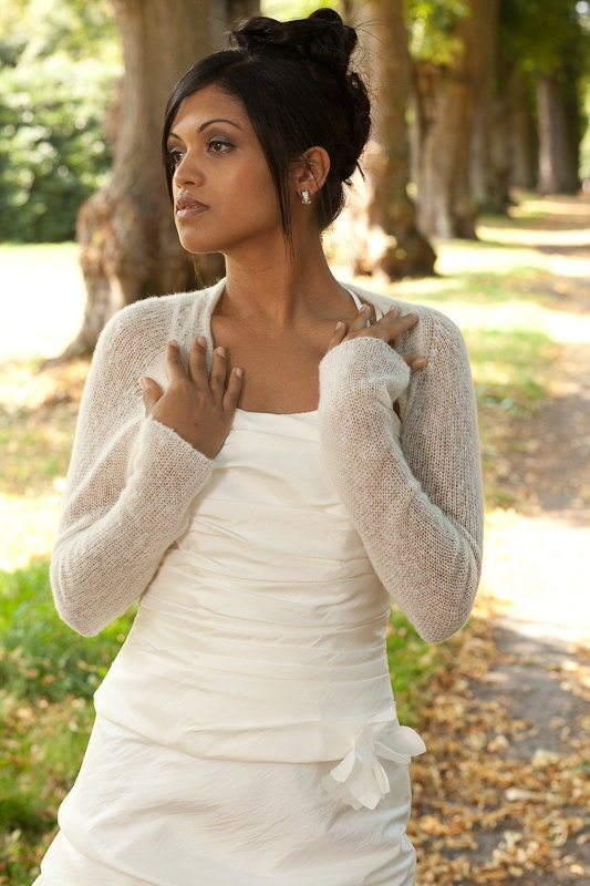 Bridal shrug wedding bolero cashmere by weddingbolero on etsy for Wedding dress with shrug