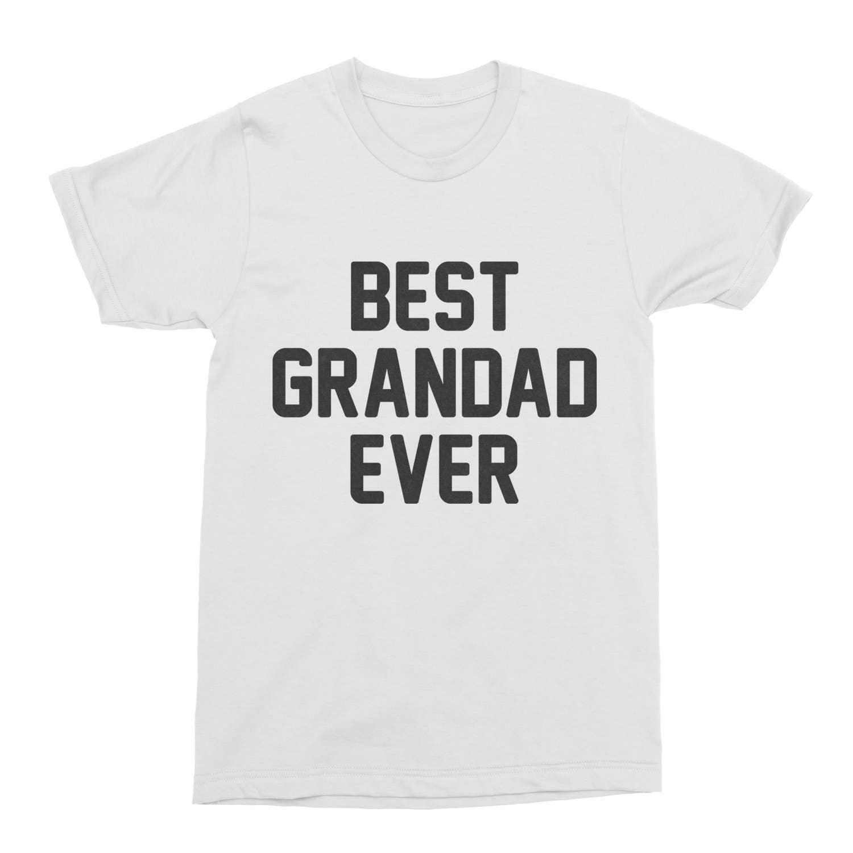 Grandad TShirt Gift Best Grandad Ever TShirt Mens Cotton TShirt Tee present for Grandad Gramps Shirt funny birthday grandfather UK
