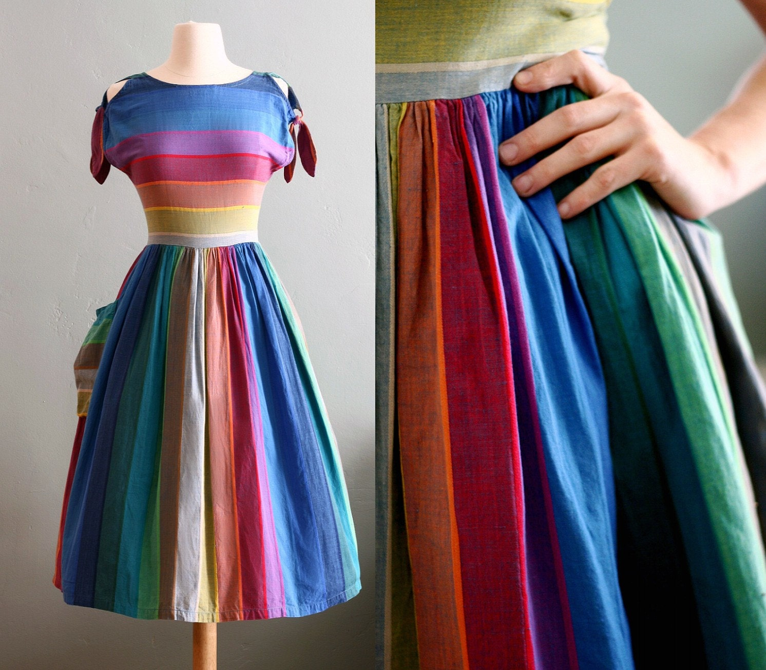 vintage 60's The Perfect spring Party DRESS S