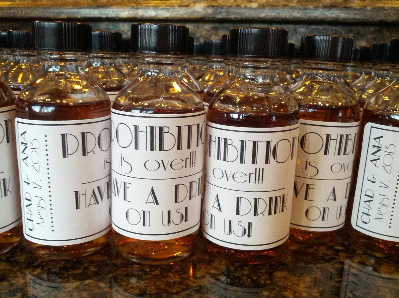 . Mini Bottle Labels, Wedding Favors, Mini Liquor Bottle Label, Mini ...