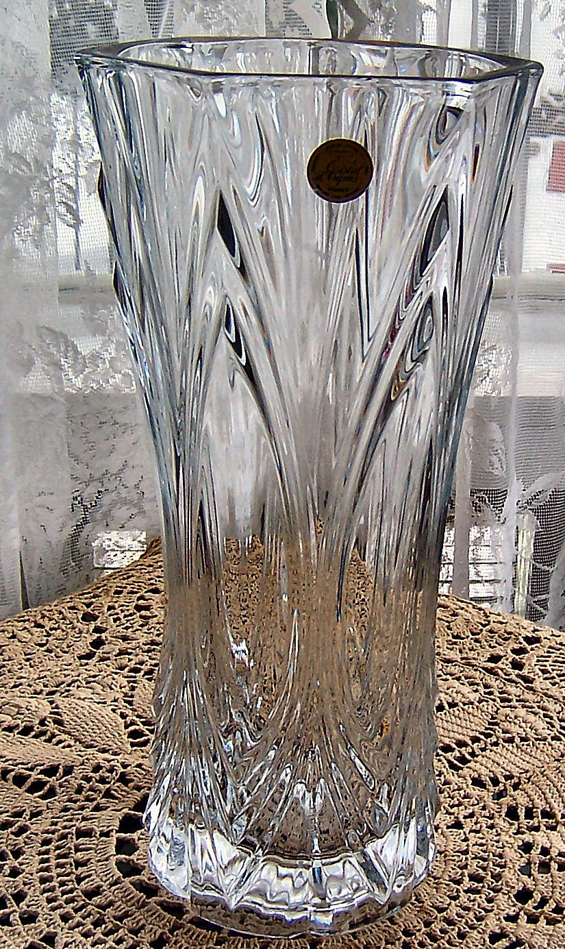 Clear Lead Crystal Vase Cristal D Argues By Sierrastreasure