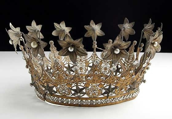 HUGE Antique French RARE Crown Late 1800s