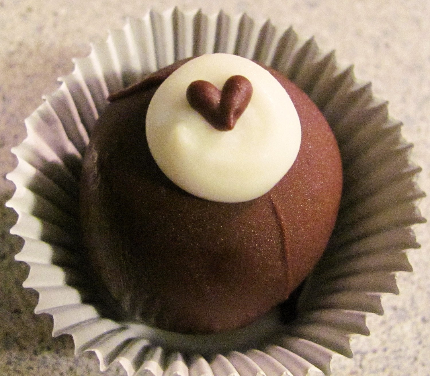 Tuxedo Chocolate Fudge Bon Bons with Hearts