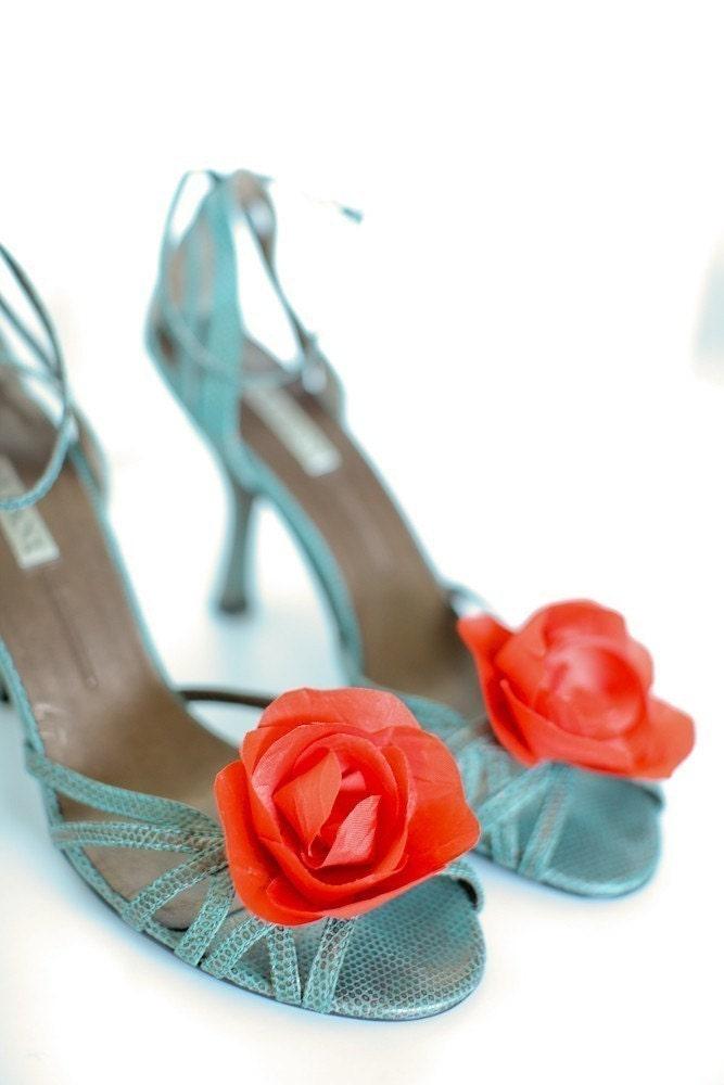 An Orange  Bloom- Shoe Clips