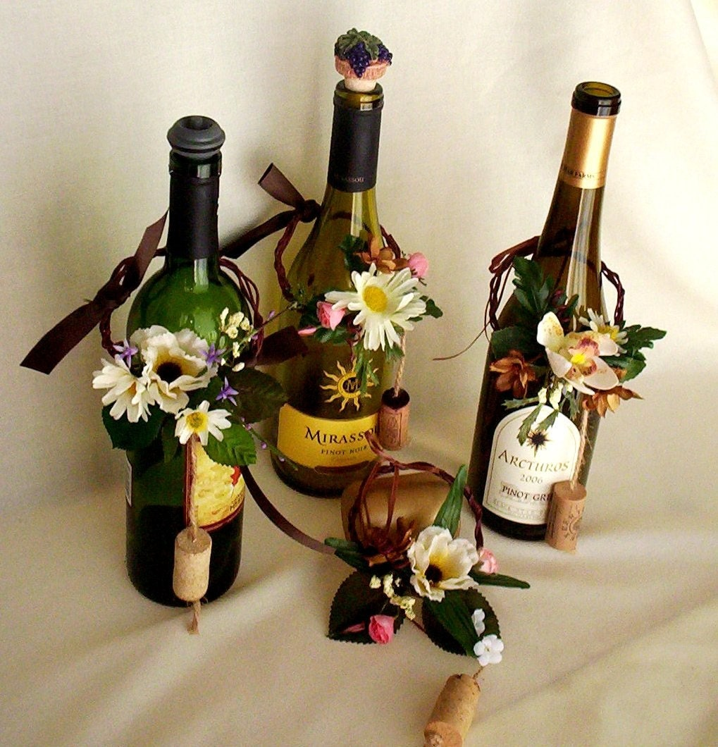 Items Similar To Wine Bottle Topper Centerpieces Wine