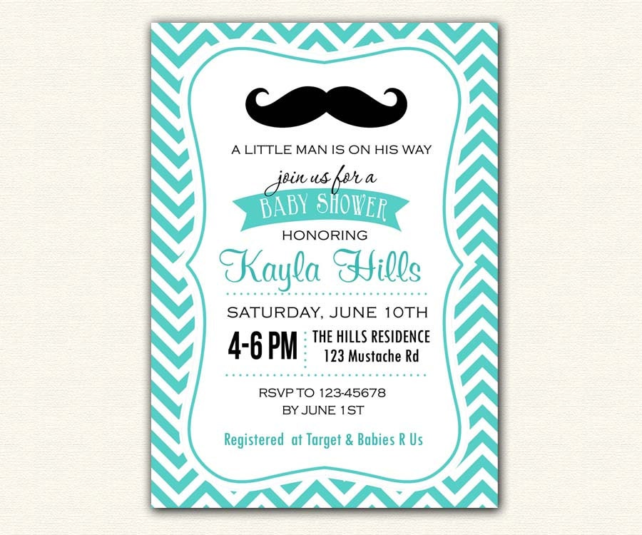 little man baby shower invitation printable in tiffany blue teal