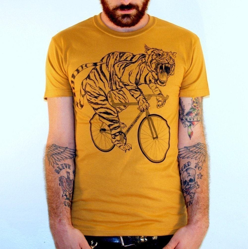 Tiger on a Bike T Shirt - Camel Bike Shirt - Size S, M, L, XL, and XXL  1