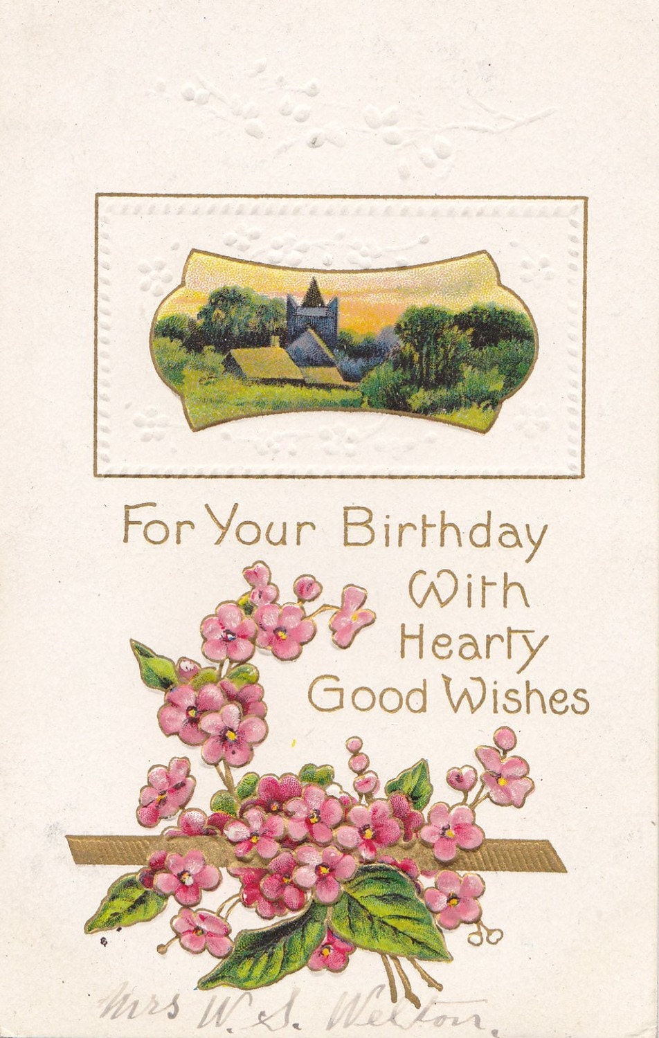 Vintage Birthday Post Card Early 1900s bd017