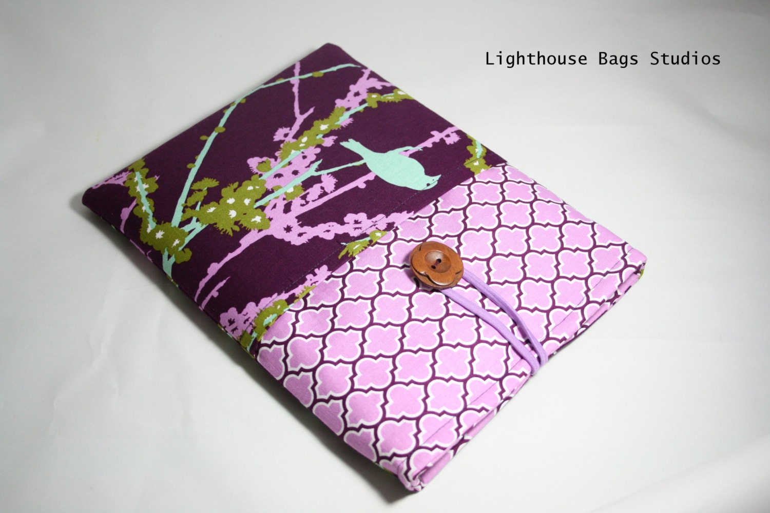 iPad 2 or 3 Sleeve / Cover in Brown Paisley Fabric - Lighthousebags