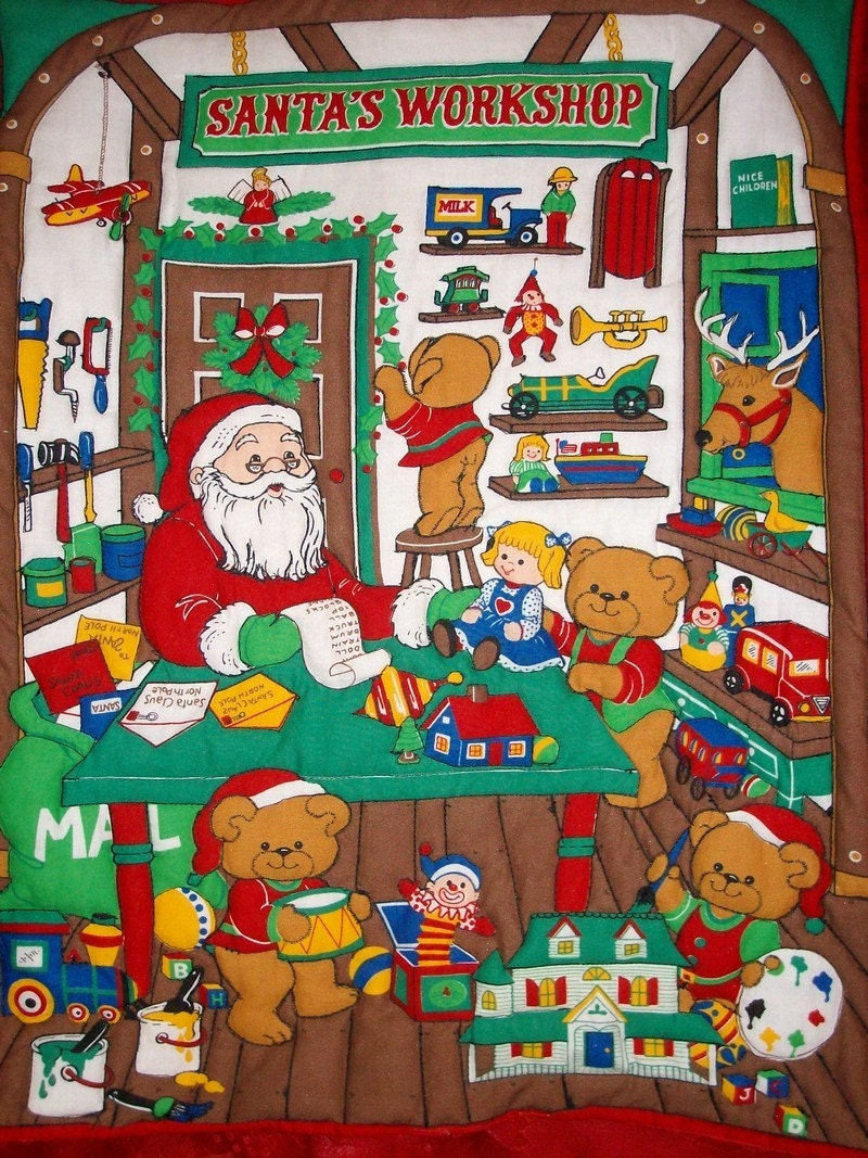 Santas Workshop Wall Hanging SALE