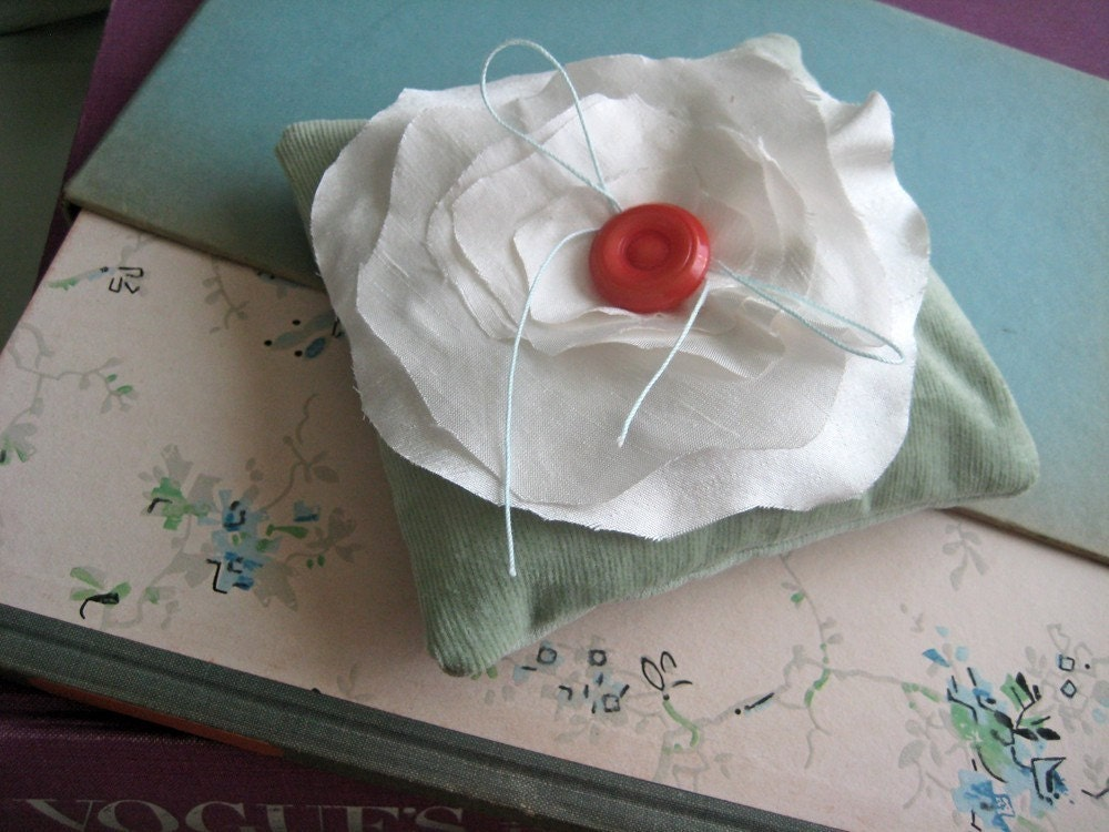 Silk Bloom Mini Ring Pillow