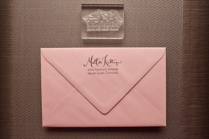 Calligraphy Address Stamp with Type- Acrylic