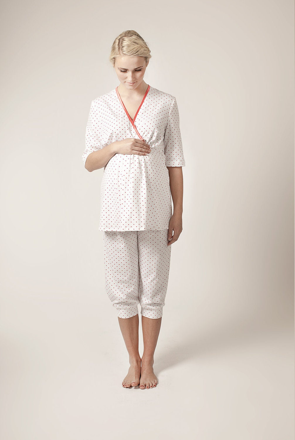 Maternity cotton nightwear (ONLY S, M LEFT) - alicebmaternity