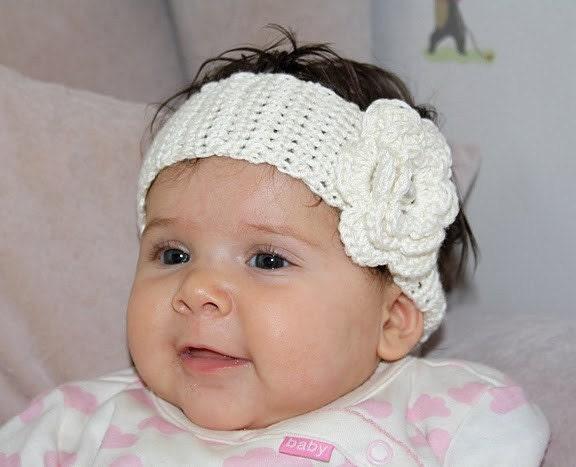 Etsy Baby Headbands Featherw Crochet Pattern Newborn Headband