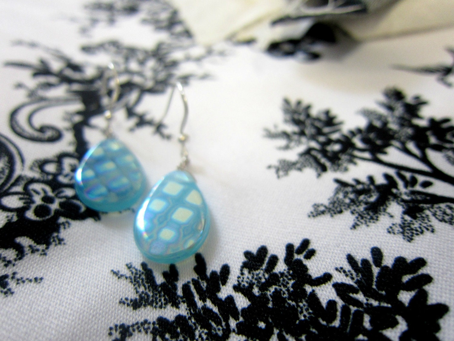 Glistening Raindrops Silver Plated Earrings