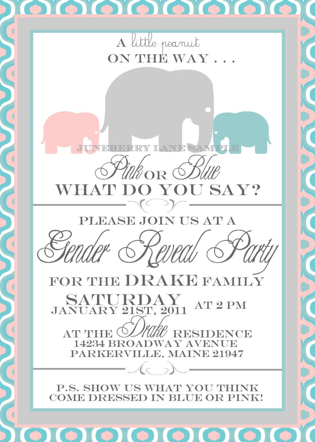 Free Printable Gender Reveal Party Invitations was perfect invitation example
