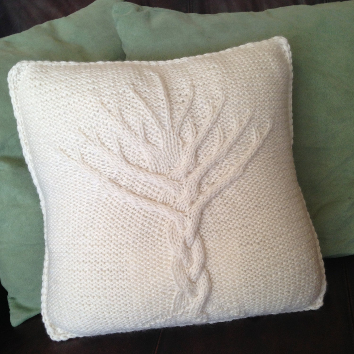 FANTASTIC HAND KNITTED CUSHION COVER PATTERN - TREE OF LIFE eBay