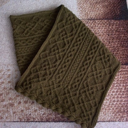 Celtic shawl RESERVED for Aramus