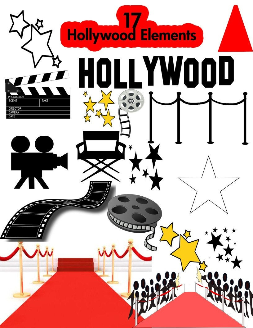 Hollywood Party Clipart