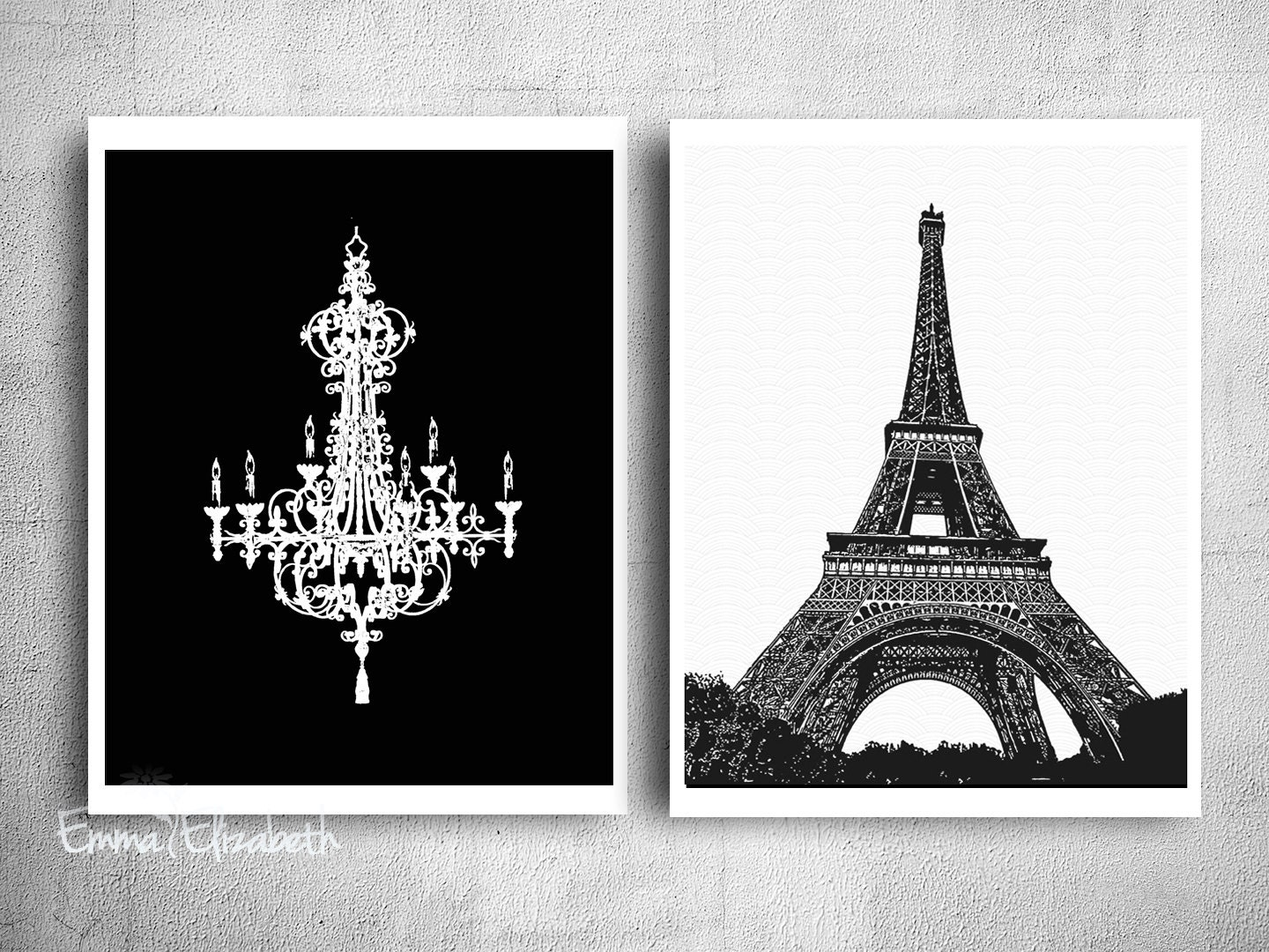 Black and white art mixed media paris wall decor by for Eiffel tower wall mural black and white