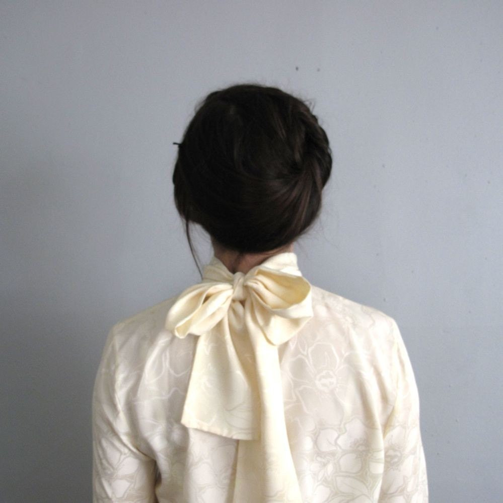 Vintage Bow Back Blouse