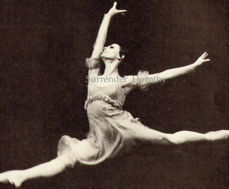 Maya Plisetskaya Russian Prima Ballerina Absoluta Portrait Photo Illustration Black and White Classic Print To Frame - SurrenderDorothy
