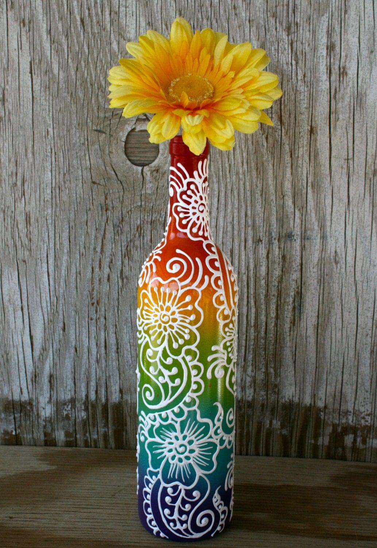 Как сделать мозаику на бутылке