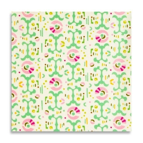 HEATHER BAILEY FRESH CUT LOLLIPOP FLOWERS MINT LAVENDER FABRIC