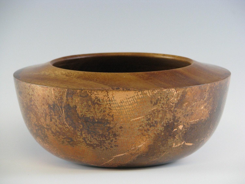 Gilded Mahogany Bowl