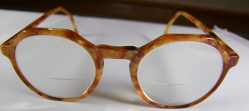ARMANI VINTAGE EYEGLASSES ITALY ROUND LENS by ifoundgallery
