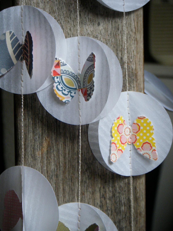 3D Paper Garland - Butterfly Garden