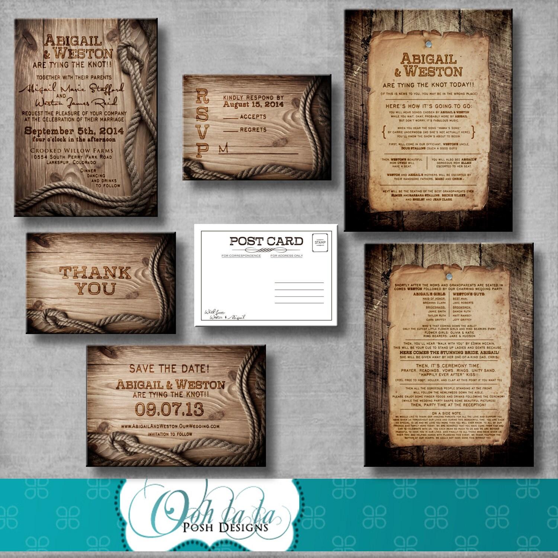 Rustic Wedding Invitation Response Card Save By